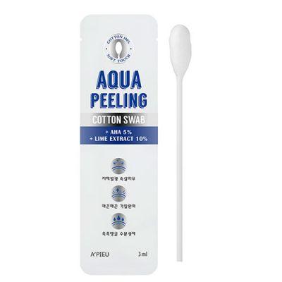 Очищающие палочки для лица с АНА-кислотами A'PIEU Aqua Peeling Cotton Swab
