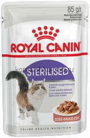 Royal Canin кусочки в соусе для кастрированных кошек 1-7лет, Sterilized