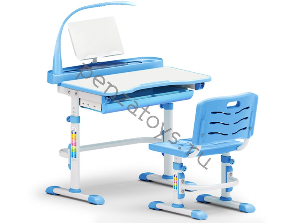 Парта+стул Mealux EVO-18 с лампой