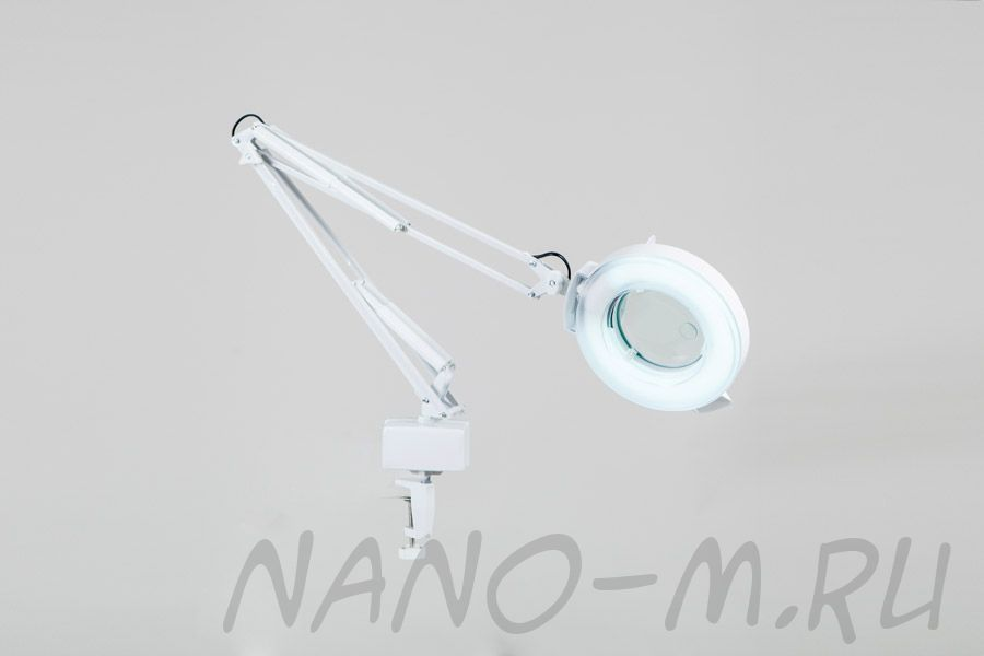 Лампа-лупа на струбцине SD-2021Т кольцевая