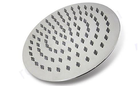 Верхний душ из нержавеющей стали для душевых кабин диаметр 250мм. Втулка с резьбой в комплекте.
