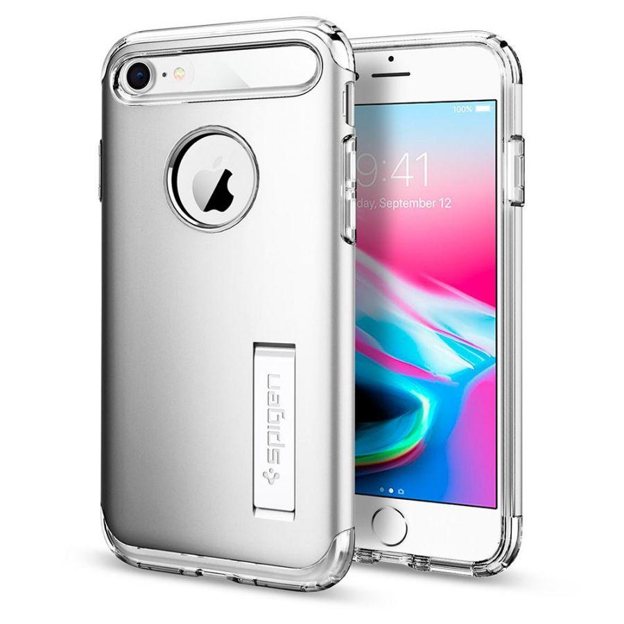 Чехол Spigen Slim Armor для iPhone 8 серебристый