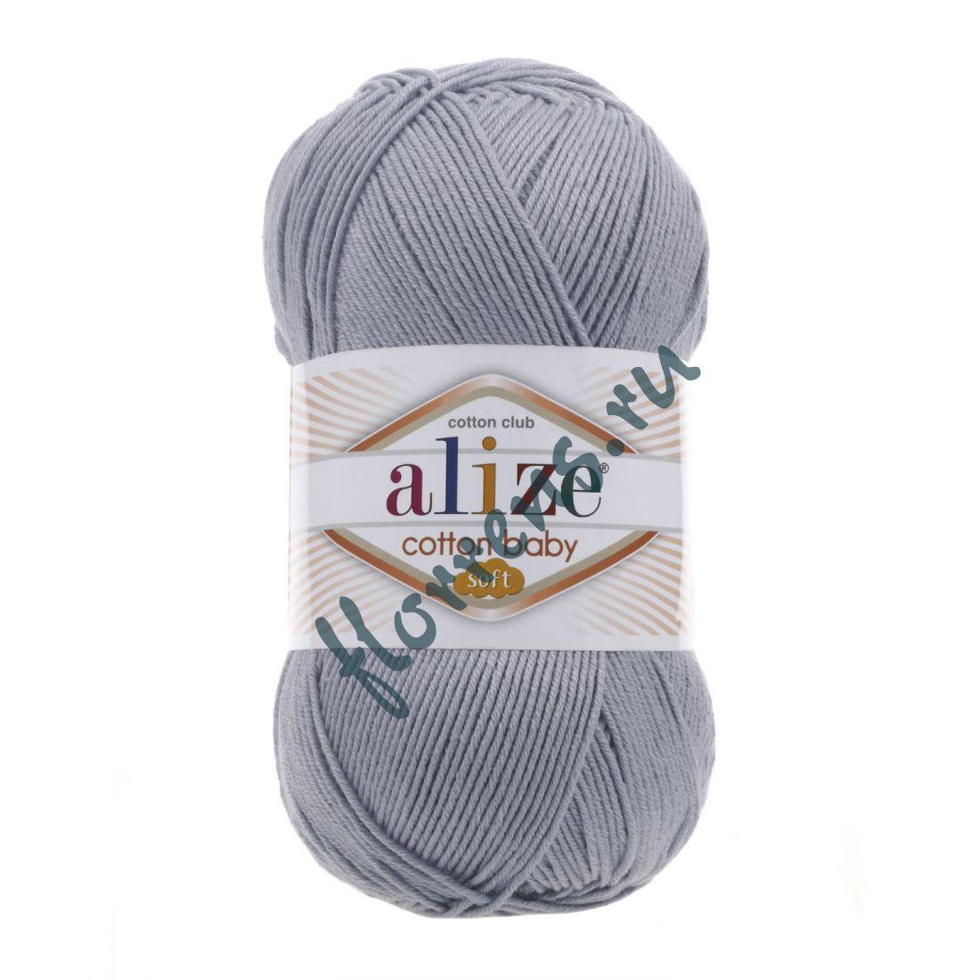 Пряжа Alize Cotton Baby soft / 21 серый меланж