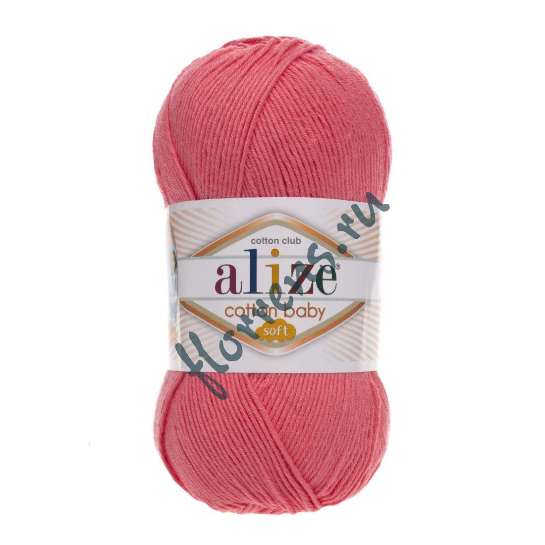 Пряжа Alize Cotton Baby soft / 33 темно-розовый