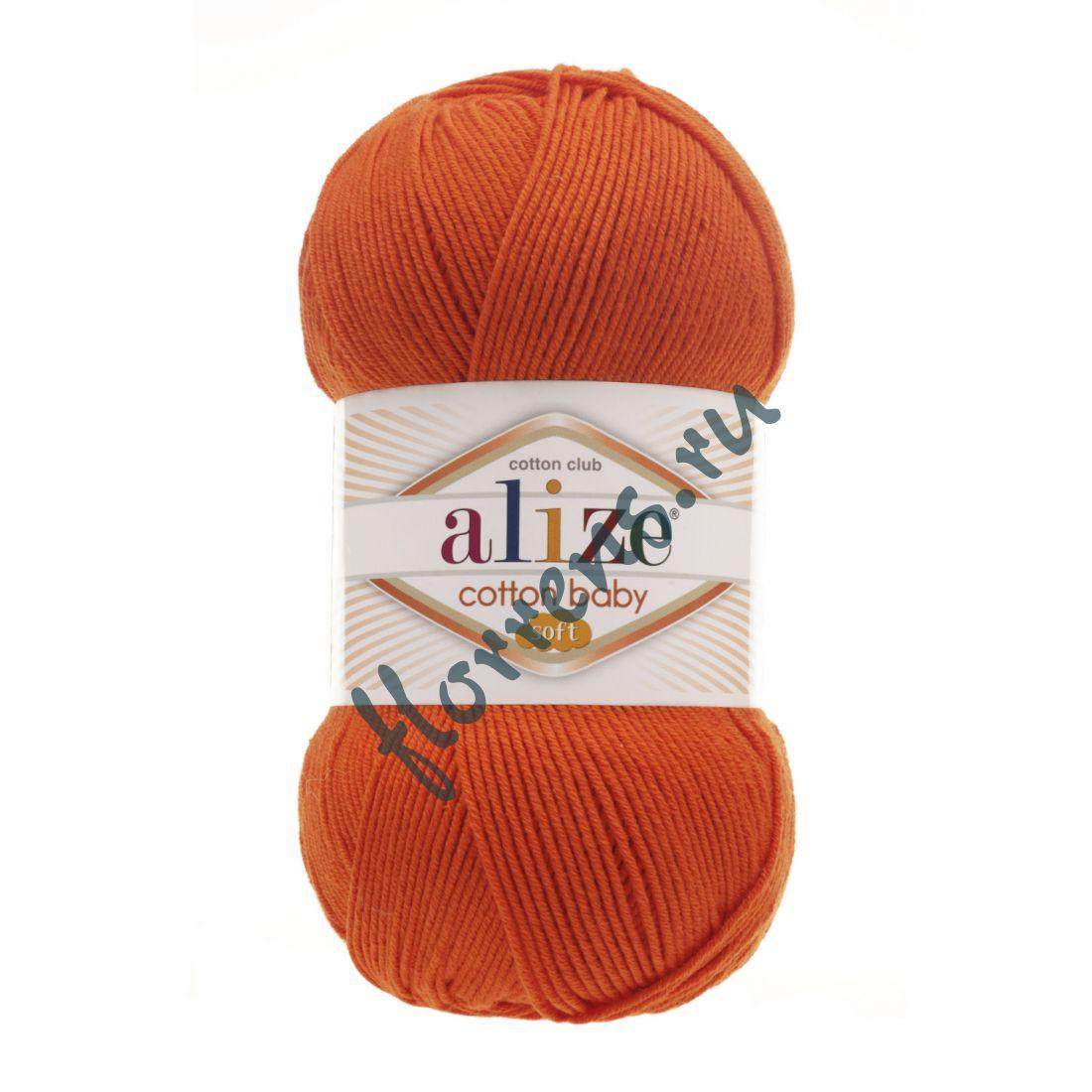 Пряжа Alize Cotton Baby soft / 37 оранжевый