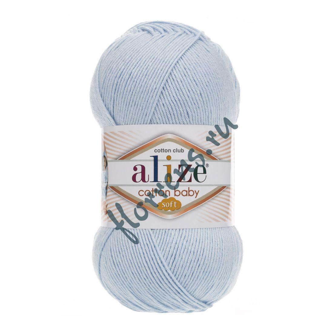 Пряжа Alize Cotton Baby soft / 183 светло-голубой