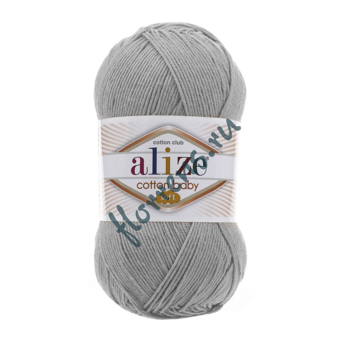 Пряжа Alize Cotton Baby soft / 200 светло-серый