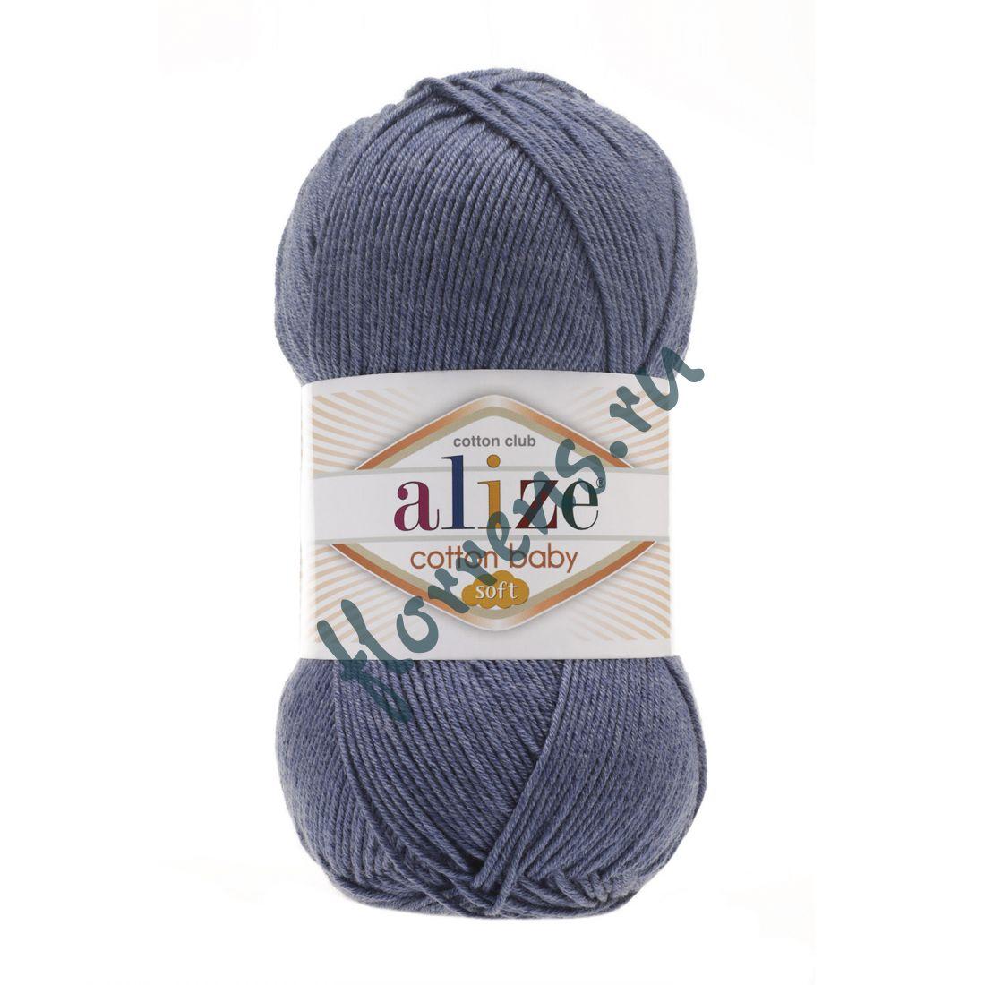 Пряжа Alize Cotton Baby soft / 203 джинсовый меланж