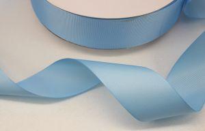 Лента репсовая однотонная 15 мм, длина 25 ярдов, цвет: светло-голубой