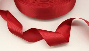 Лента репсовая однотонная 15 мм, длина 25 ярдов, цвет: бордовый