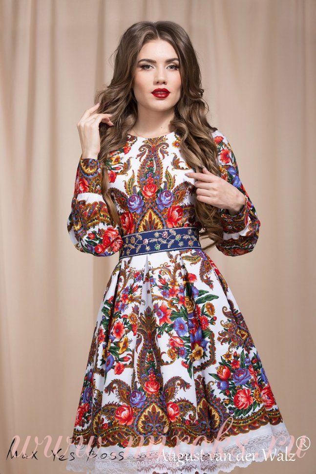 Платье в русском народном стиле