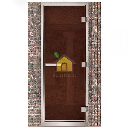 Дверь для хамама Maestro Woods Стекло бронза