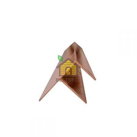F-образный профиль Шоколад Goodeck для террасной доски 146х23 мм