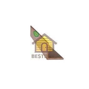 Уголок наружный Шоколад Goodeck 45х45x3000 мм для террас и фасадов