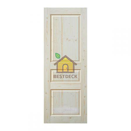 Двери из массива сосны неокрашенная; филёнчатая ДГФ-ЗФ-2