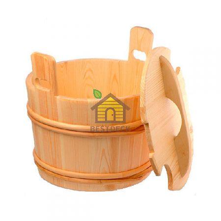 Деревянное ведро Sawo 392 с пластиковой вставкой 40 л. (осина, сосна, кедр)