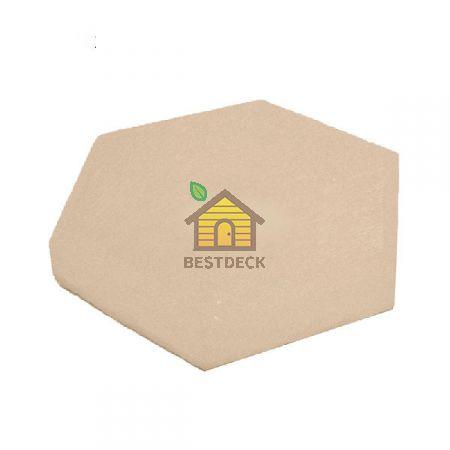 Шестигранник из гималайской соли 140*140*25 мм белый, с фаской