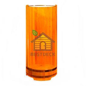 Душевая кабина из лиственницы 900*2000 мм. Цвет: натуральный/мореный