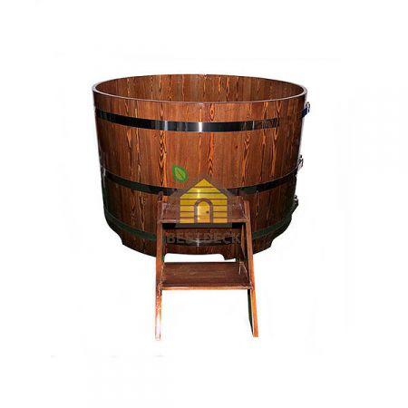 Купели круглые для бани из лиственницы. Цвет: натуральный/мореный