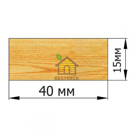 Рейка 15*40 строганая сухая