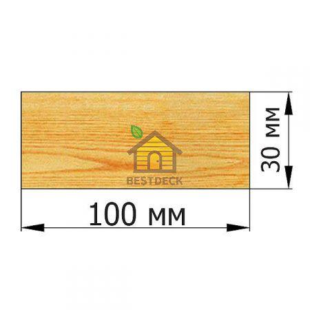 Доска 30*100 строганая сухая