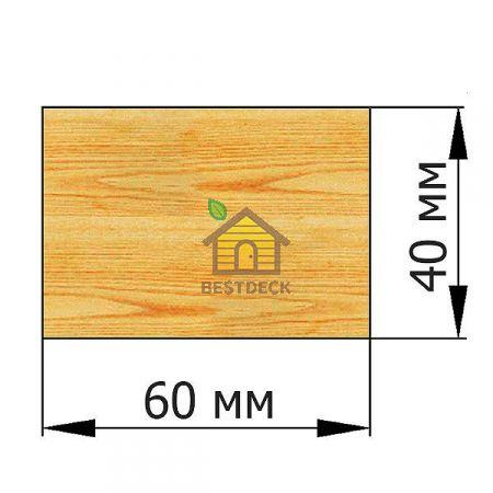 Брусок 40*60 строганый сухой