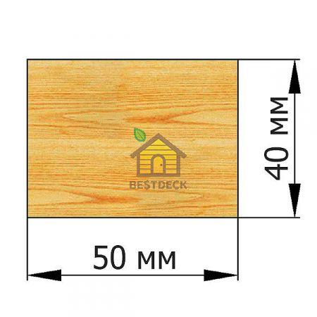 Брусок 40*50 строганый сухой