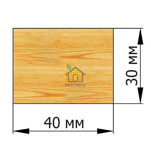 Брусок 30*40 строганый сухой