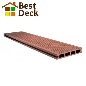 Террасная доска из ДПК 146*23 мм цвет: Шоколад Goodeck. Две рабочие поверхности.