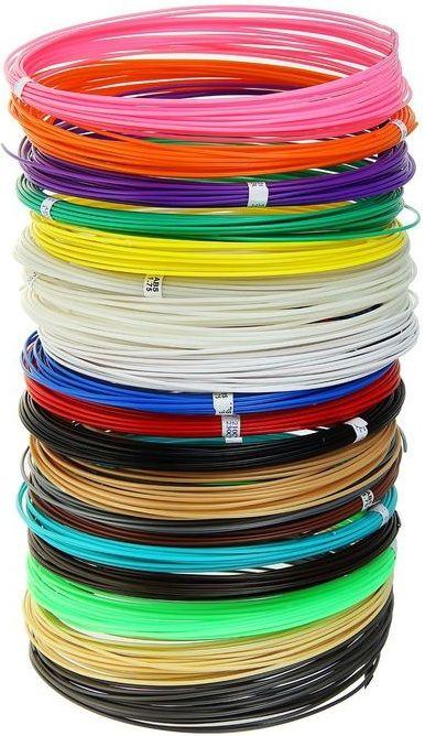 PLA пластик для 3D ручки (20 цветов по 10 м)