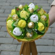 "Букет из конфет №718 ""Жёлтые тюльпаны"""