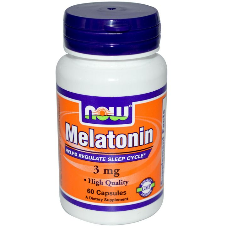 NOW MELATONIN 3mg 60капс