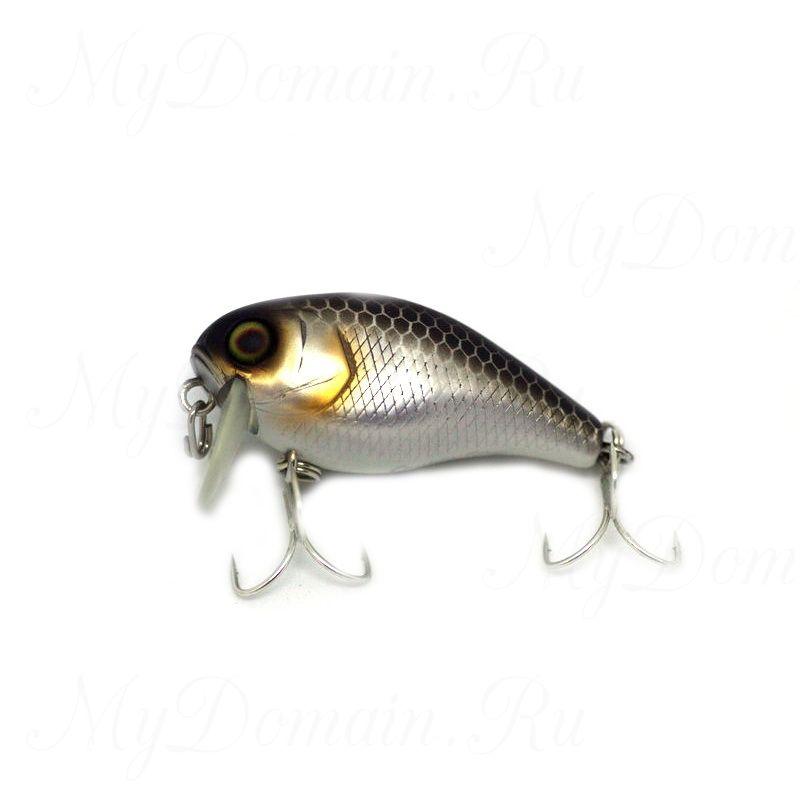 Воблер JACKALL CHUBBY 38F SSR UV Mat Silver & Black