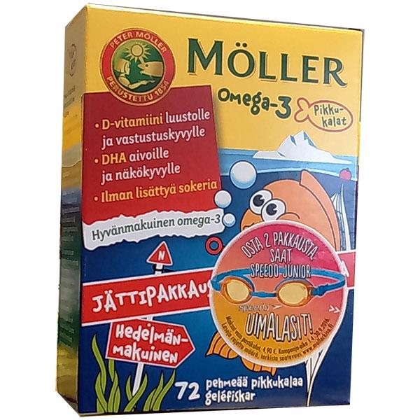 Moller Omega-3+D3 детские витамины 72 шт