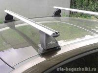 Багажник на крышу Mercedes-Benz B-klasse II (W246), Lux, аэродинамические  дуги (53 мм)