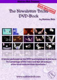 15 карточных фокусов от Mathieu Bich - The Newsletter Tricks DVD - BOOK (гиммики в комплекте)