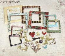 """Рамки из чипборда с фольгированием (золото)  30шт """"Time to Dream"""" от Scrapmir"""