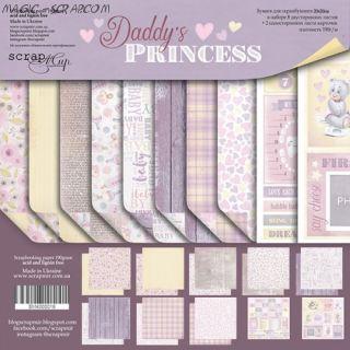 """Набор двусторонней бумаги 20х20см от Scrapmir """"Daddy's Princess"""""""