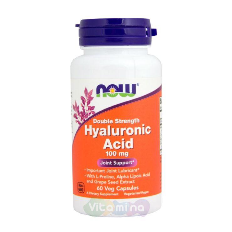 Now Foods Гиалуроновая кислота с Пролином Hyaluronic Acid 60 капс.