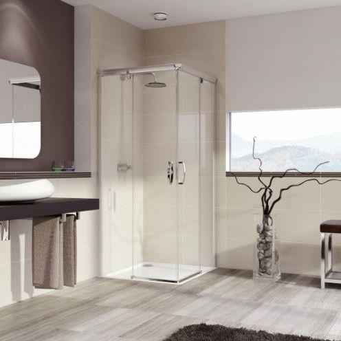 Huppe Aura elegance 2х-секционная раздвижная дверь для углового входа 4013 ФОТО