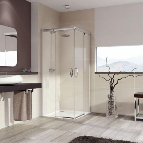 Huppe Aura elegance 2х-секционная раздвижная дверь для углового входа 4013