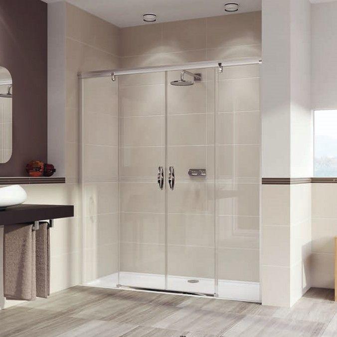 Huppe Aura elegance Двухсекционная раздвижная душевая дверь с неподвижными сегментами 4021 ФОТО