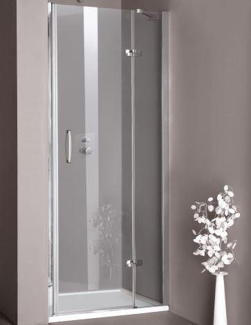 Huppe Aura elegance Распашная душевая дверь с неподвижным сегментом для ниши крепление справа 4002 ФОТО