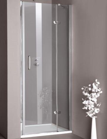 Huppe Aura elegance Распашная дверь с неподвижным сегментом для ниши крепление справа 4002