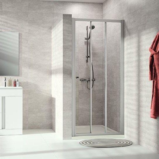 Huppe Alpha 2 Раздвижная душевая дверь 2х-секционная с неподвижным сегментом, с частичным обрамлением A203 ФОТО