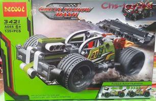 Конструктор Decool Technic Зеленый гоночный автомобиль 3421 (Аналог LEGO Technic 42072) 135 дет