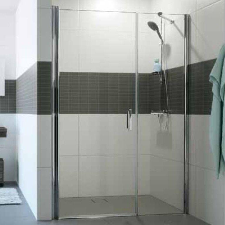 Huppe Classics 2 Распашная душевая дверь с дополнительным элементом для ниши C247 ФОТО