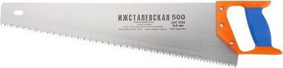 """Ножовка """"ИЖ"""" """"ПРЕМИУМ"""" по дереву с двухкомпонентной пластиковой рукояткой шаг 6,5 мм 500 мм"""