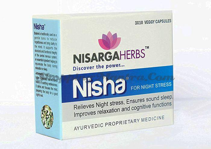 Ниша Нисарга Хербс для улучшения сна | Nisarga Herbs Nisha Capsules