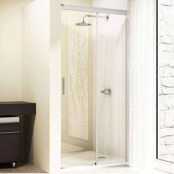 Односекционная раздвижная душевая дверь в нишу с неподвижным сегментом Huppe Design elegance 8E02 ФОТО